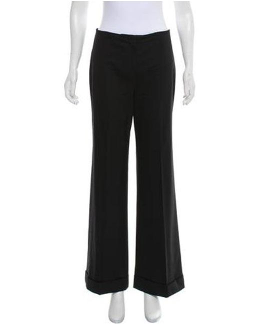 The Row - Black Mid-rise Wide-leg Pants - Lyst