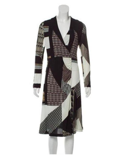 032bc38c2f900c Etro - Black Printed Long Sleeve Dress Multicolor - Lyst ...