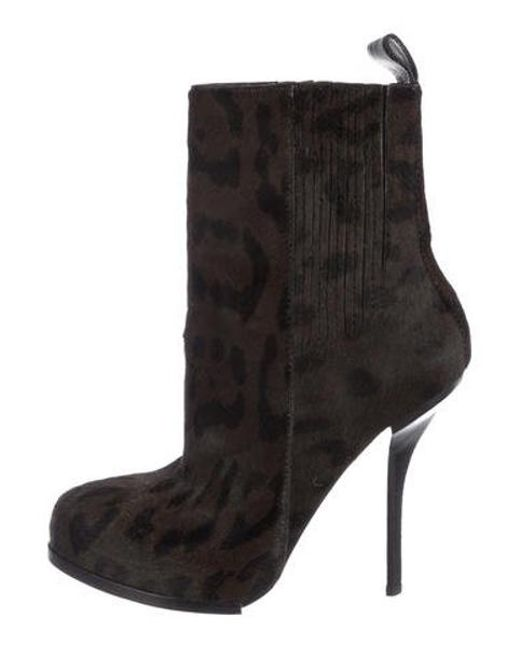730cf55c93bc Alexander Wang - Gray Patterned Ankle Boots Grey - Lyst ...
