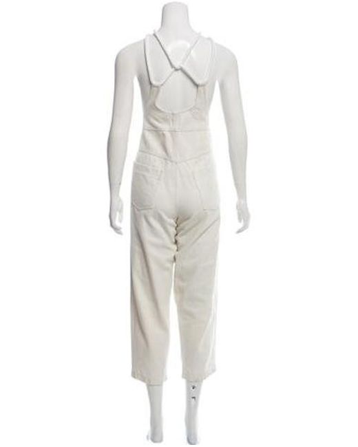 bb73413c10e3 ... Alice McCALL - Metallic Sleeveless Denim Jumpsuit White - Lyst