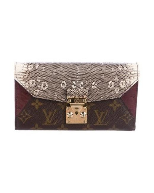 609569e289ff Louis Vuitton - Natural Majestueux Envelope Wallet Brown - Lyst ...