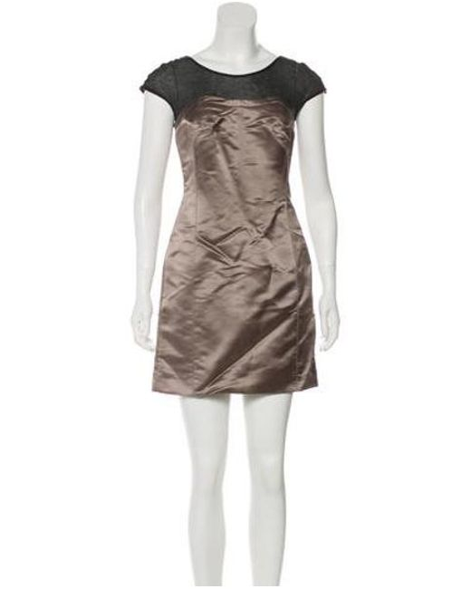 73f9f9323a61 Tory Burch - Gray Sleeveless Mini Dress W  Tags Grey - Lyst ...