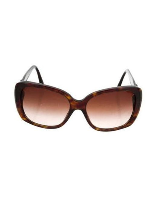 adb21e7c101 Chanel - Metallic Quilted Turn-lock Sunglasses Brown - Lyst ...