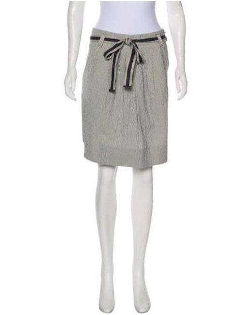 448f19b89 Brunello Cucinelli - Blue Pleated Mini Skirt - Lyst ...