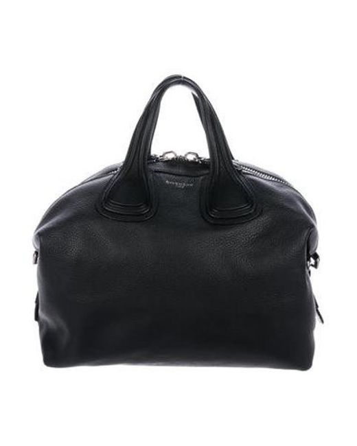 6415dfc6ed56 Givenchy - Metallic Large Nightingale Satchel Black - Lyst ...