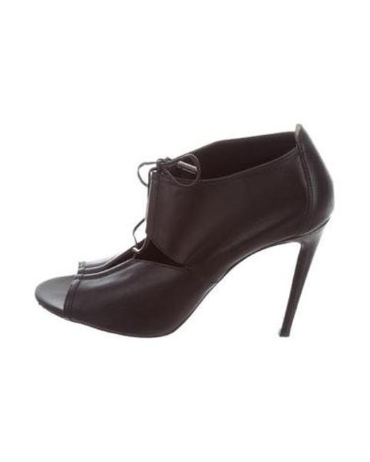 Aquazzura - Black Leather Cutout Sandals - Lyst