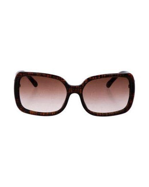 c8743190f735b Chanel - Metallic Cc Square Sunglasses Brown - Lyst ...