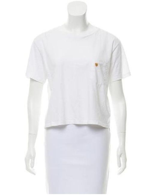 Mother - White Crew Neck Short Sleeve Top W/ Tags - Lyst