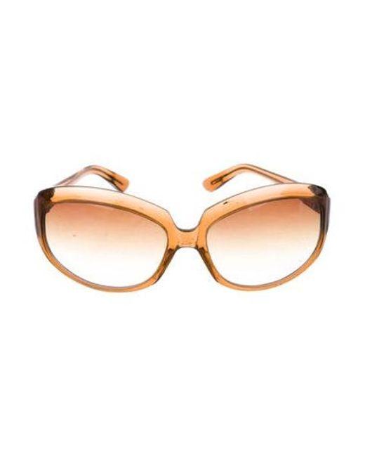 8067bef422d5 Oliver Peoples - Brown La Donna Oversize Sunglasses - Lyst ...