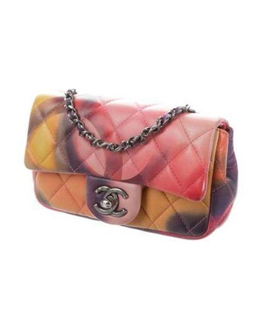 81466ea52598 Chanel Multicolor Nubuck Leather Flower Power Messenger Bag