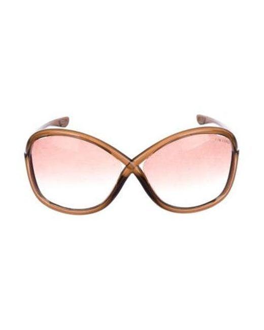 4bf43b20d7d Tom Ford - Metallic Whitney Gradient Sunglasses Brown - Lyst ...