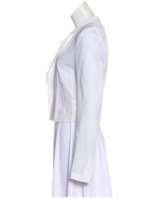 681b2cd61b2 ... Ann Demeulemeester - White Embroidered Open Front Jacket W  Tags - Lyst  ...