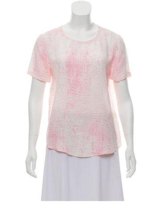 Equipment - Pink Silk Printed Top - Lyst
