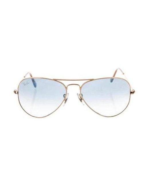 8a61e0f788 Ray-Ban - Metallic Gradient Aviator Sunglasses Gold - Lyst ...