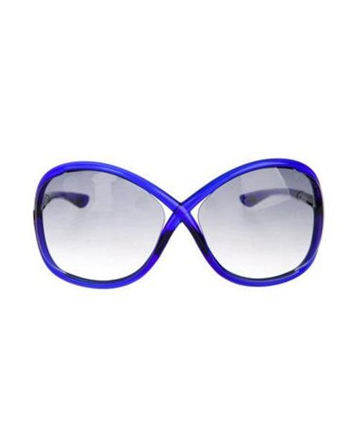 295562632618 Tom Ford - Metallic Whitney Gradient Sunglasses Blue - Lyst ...