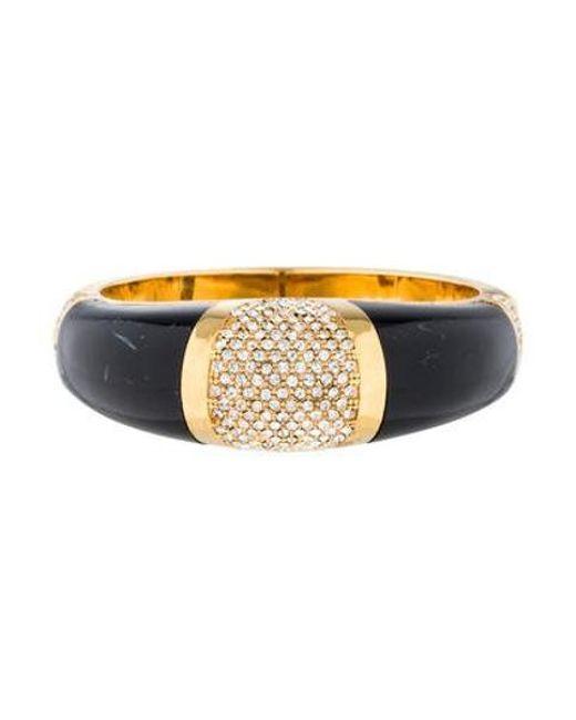 Rachel Zoe - Metallic Dome Deco Bracelet Gold - Lyst