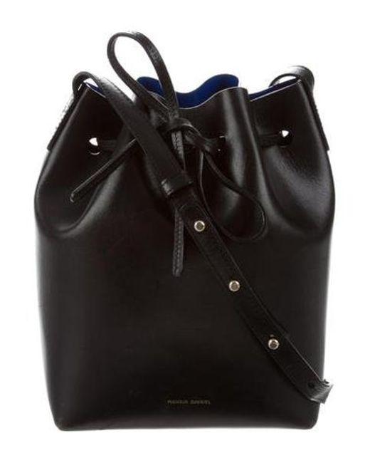 63ea072573d9 Mansur Gavriel - Metallic Leather Bucket Bag Black - Lyst ...