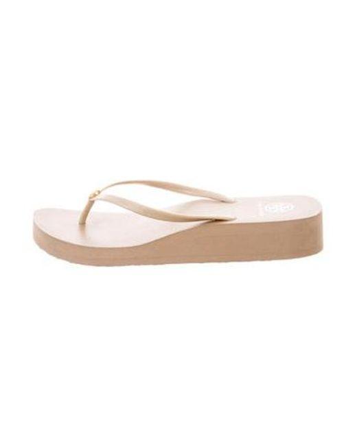 89bcacf513bc Tory Burch - Natural Rubber Thong Sandals Tan - Lyst ...