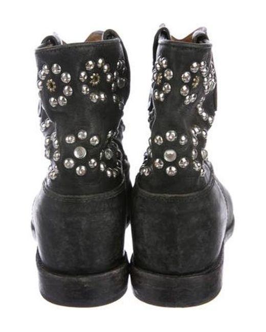 480939245034 ... Isabel Marant - Metallic Studded Wedge Booties Black - Lyst