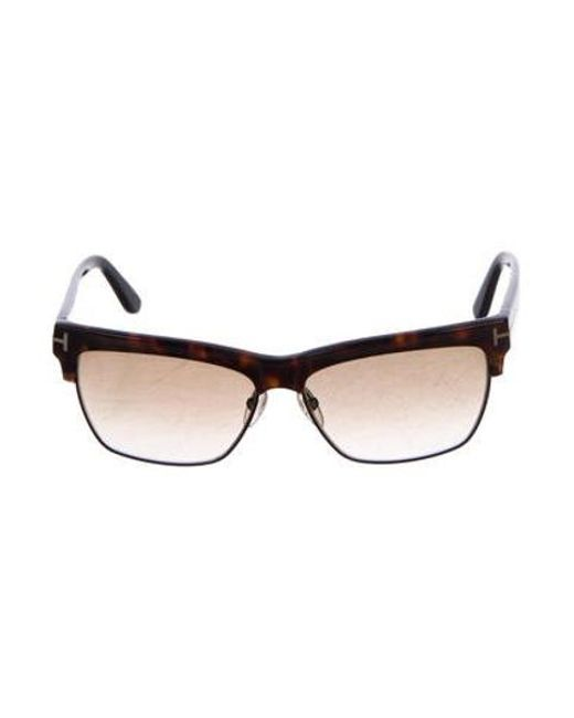 64926cf0e48b Tom Ford - Metallic Tortoiseshell Gradient Sunglasses Brown - Lyst ...