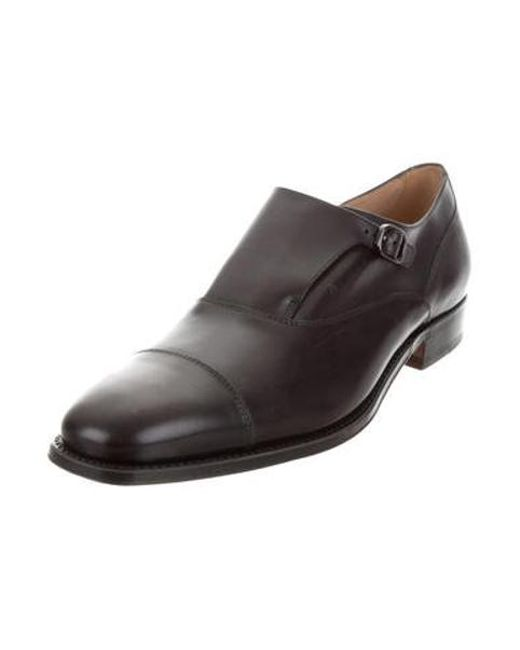 55a6b007dd2 ... Lyst Tod s - Black Leather Monk Strap Loafers for Men ...