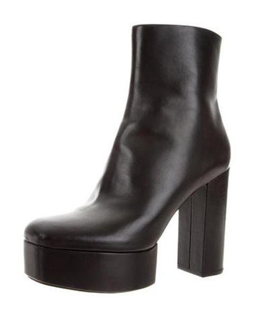 cd9ef8b5bc06 ... Alexander Wang - Black Leather Platform Ankle Boots - Lyst ...