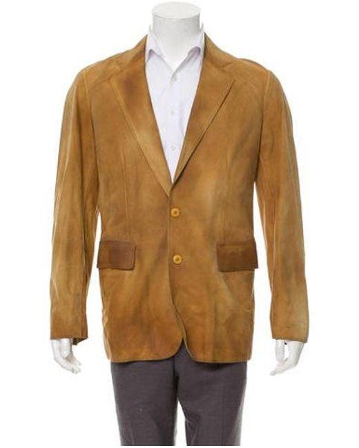 dd8dbda40e5 Miu Miu - Brown Miu Woven Button-up Jacket for Men - Lyst ...