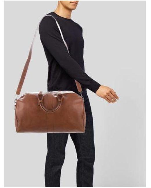 17fb31014181 ... Michael Kors - Brown Pebbled Leather Weekender for Men - Lyst ...