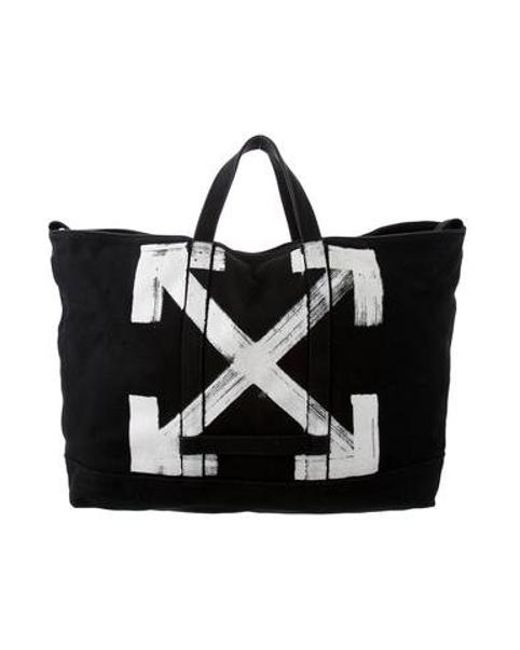 119b32aa187 Lyst - Off-White C O Virgil Abloh Painted Canvas Tote in Black for Men