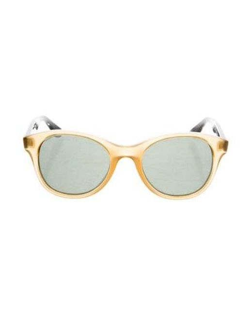 aba42e41a7 Ray-Ban - Metallic Round Tinted Sunglasses Brown - Lyst ...