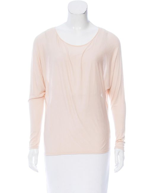 The Row - Pink Knit Long Sleeve Top Orange - Lyst