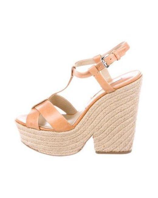 7aad086ac0a Michael Kors - Brown Platform Espadrille Sandals - Lyst ...