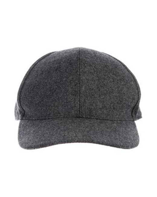 ... Brunello Cucinelli - Metallic Wool Leather-trimmed Hat Grey for Men -  Lyst ... fe952e1195a4