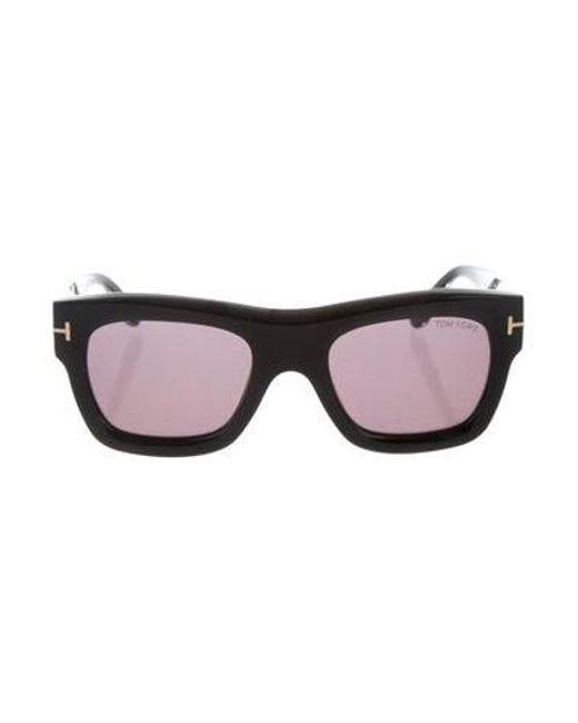 610b3141c293 Tom Ford - Metallic Tinted Square Sunglasses Black - Lyst ...