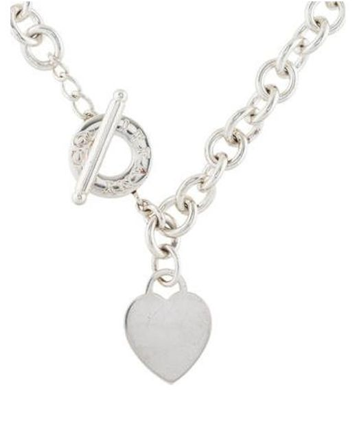 Tiffany & Co - Metallic Heart Tag Toggle Necklace Silver - Lyst