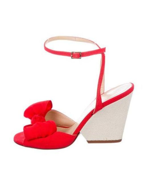 042816f2d3 Kate Spade - Red Wolven Wedge Sandals - Lyst ...