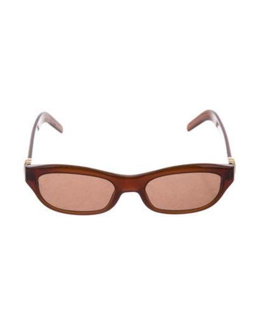 49a6ec38123 Cartier - Metallic Gold-plated Tinted Sunglasses Brown - Lyst ...
