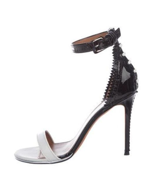 dcc9b28c652 Givenchy - White Nadia Colorblock Sandals - Lyst ...