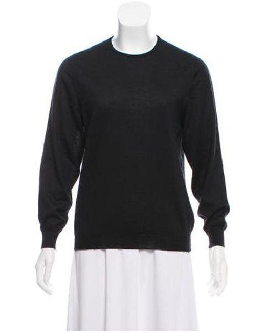 6dc495d25bf5 Lyst - Loro Piana Cashmere Sweater in Black