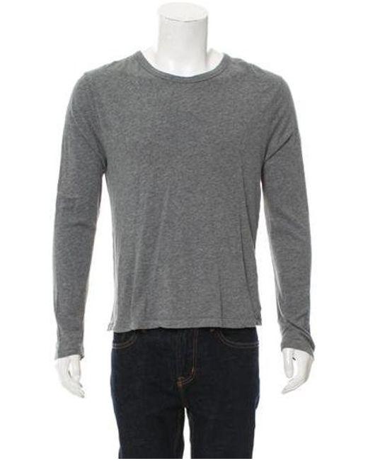 d3ba97994e8bdb T By Alexander Wang - Gray Long Sleeve Crew Neck T-shirt Grey for Men ...