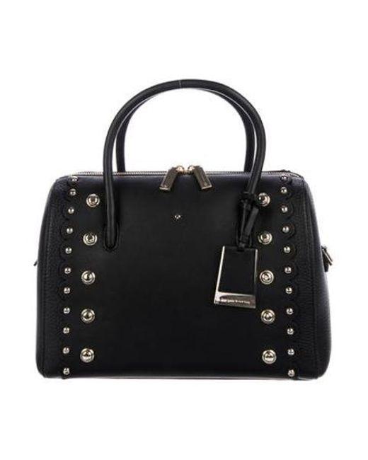 9b749d78b00b Kate Spade - Metallic Madison Stewart Mega Lane Bag Black - Lyst ...
