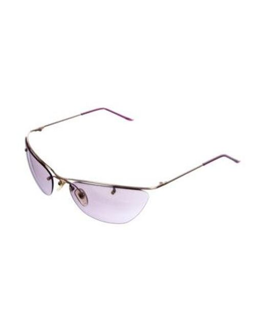 28d4ae6ff4c ... Dior - Purple Rimless Tinted Sunglasses - Lyst ...