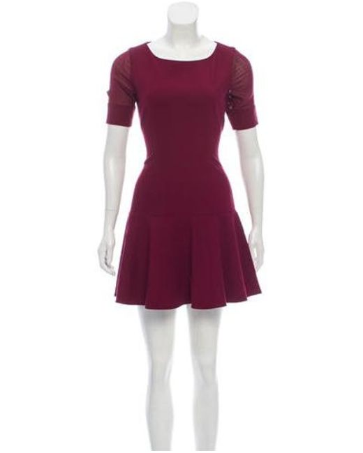 Elizabeth And James Red Drop Waist Mini Dress Burgundy Lyst