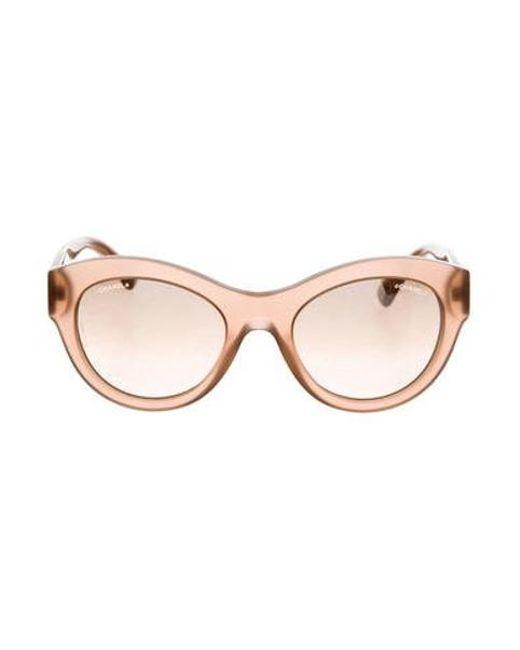 2f4d280dbb68 Chanel - Metallic Butterfly Summer Sunglasses Silver - Lyst ...