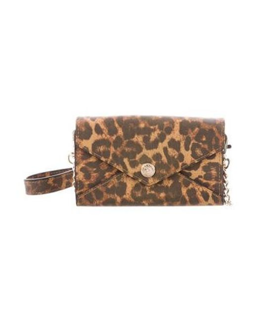 b45dda9a23f9 Rebecca Minkoff - Metallic Printed Crossbody Bag Brown - Lyst ...
