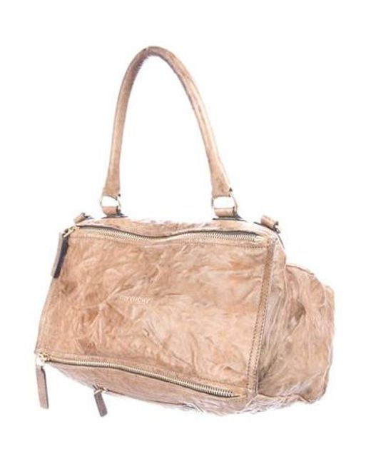 5dd328b6b4 ... Givenchy - Metallic Medium Pandora Bag Brown - Lyst ...