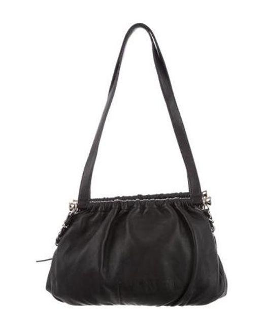 d6b98352c224 Chanel - Metallic Leather Shoulder Bag Black - Lyst ...