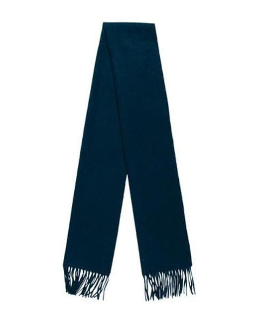 Marc Jacobs - Blue Cashmere Fringe Scarf - Lyst