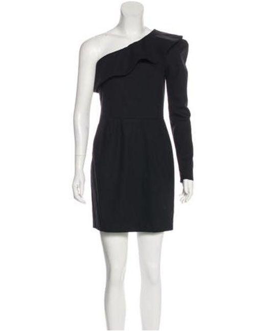 8e00b8132cd Rachel Zoe - Black One-shoulder Mini Dress - Lyst ...