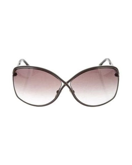 29f9f37c77e7f Tom Ford - Metallic Rickie Oversize Sunglasses Silver - Lyst ...